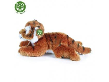 Plyšový tygr hnědý ležící 17 cm ECO-FRIENDLY