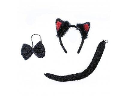 Sada kočka čelenka motýlek a ocas
