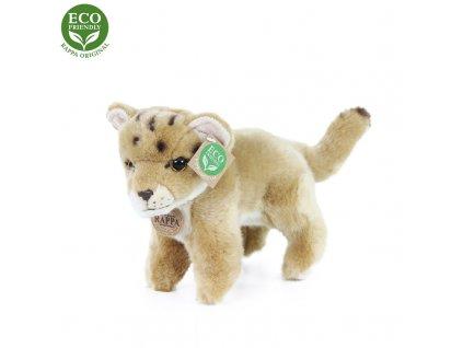 Plyšová lvice mládě stojící s tvarovatelnými končetinami 22 cm ECO-FRIENDLY