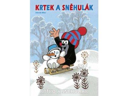 Omalovánka A4 Krtek a sněhulák