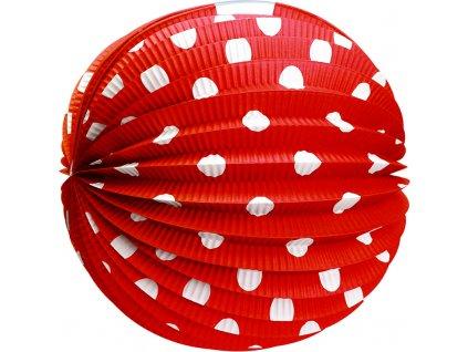 Papírový kulatý lampion červený 25 cm