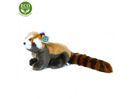 Plyšová panda červená 25 cm ECO-FRIENDLY