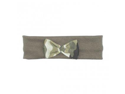 Kojenecká čelenka New Baby Army girl - zelená/univerzální