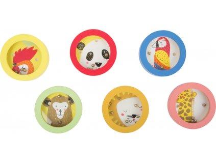 Zvířátkový minilabyrint s kuličkou 1ks Béžová zvířátkový minilabyrint s kuličkou 1ks Béžová