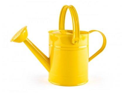Kropící konev - žlutá, kov