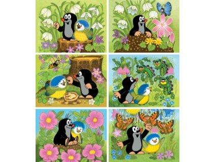 Kubus Krtek a ptáček 12 kostek