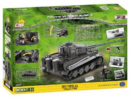 Stavebnice II WW Panzer VI Tiger Ausf. E, 800 k, 1 f  + Dárek zdarma