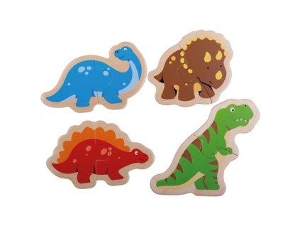 Bigjigs Toys Dřevěné puzzle dinosauři poškozený obal