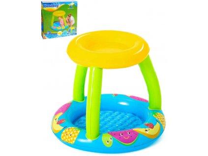 BESTWAY Baby bazének nafukovací kulatý se stříškou 94cm 52331