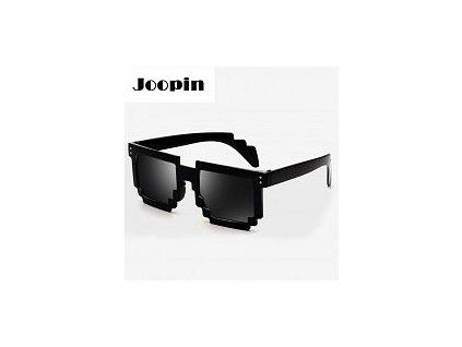Mozaikové sluneční brýle 8 bit pixel (Černé)