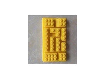 Forma na led - kostky lega (Žlutá)