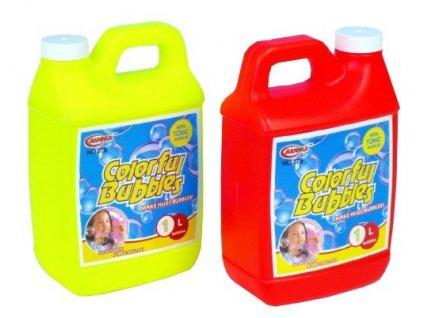 Náhradní náplň do bublifuku 1000 ml (1 litr) plastový kanystr 2 barvy