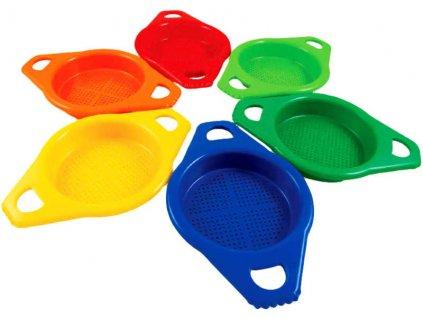 LORI 210 Sítko dětské na písek s úchyty 6 barev plastové