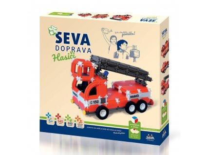 Stavebnice SEVA DOPRAVA – Hasiči  + Nanopodložka, loupač, nebo desinfekce