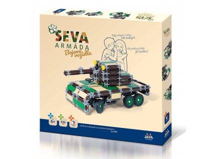 Stavebnice SEVA ARMÁDA - Bojová vozidla