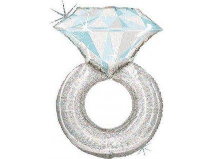 Nafukovací balónek prstýnek s diamantem 97 cm - Grabo