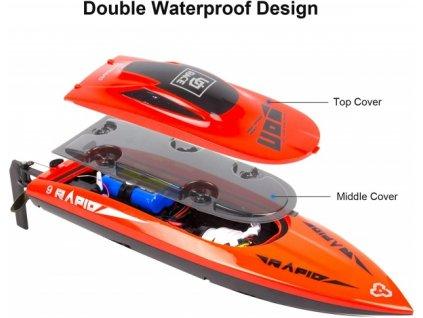 RAPID 9 Hi-Speed vysokorychlostní člun, 2,4 GHz, 30 km/h  + Dárek zdarma