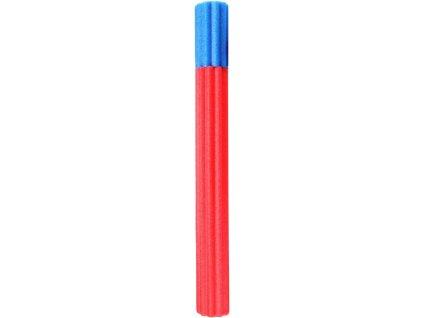 Pistole vodní pumpa vroubkovaná 65cm soft pěnová trubice na vodu 3 barvy