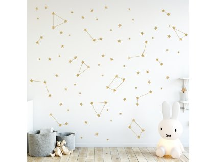 Samolepka na zeď Zlaté hvězdy
