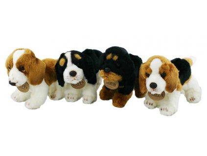 PLYŠ Pes 16cm stojící 4 druhy *PLYŠOVÉ HRAČKY*