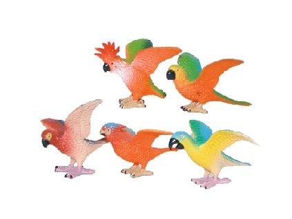 Papoušci 5 ks v sáčku