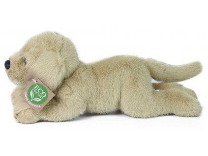 PLYŠ Pes labrador ležící 20cm Eco-Friendly *PLYŠOVÉ HRAČKY*