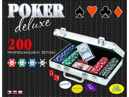 ALBI HRA Poker Deluxe 200 žetonů SPOLEČENSKÉ HRY