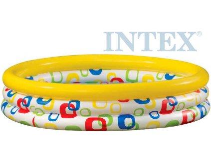 INTEX Bazén dětský kulatý s potiskem nafukovací 168 x 38cm