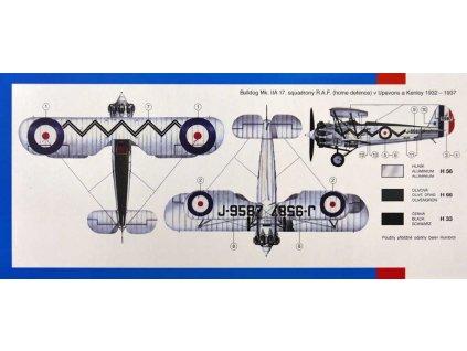 SMĚR Model letadlo Bristol bulldog 1:48 (stavebnice letadla)