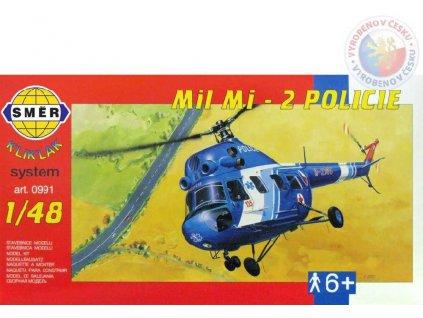 SMĚR Model helikoptéra Vrtulník Mi 2 Policie 1:48 (stavebnice vrtulníku)