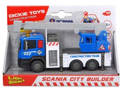 DICKIE Auto stavební Scania City 17cm různé druhy na baterie Světlo Zvuk kov