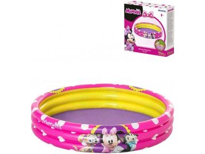 BESTWAY Baby bazén nafukovací kruhový Disney Minnie 122x25cm 91079