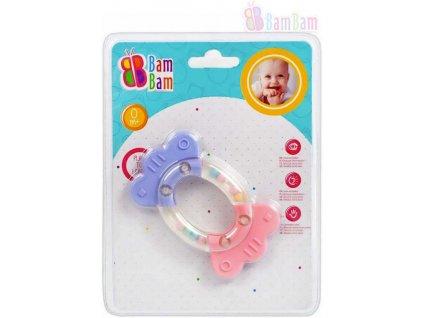 BAM BAM Baby chrastítko BONBON kousátko pro miminko