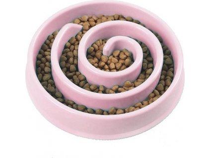 Miska pro pomalé krmení - růžová