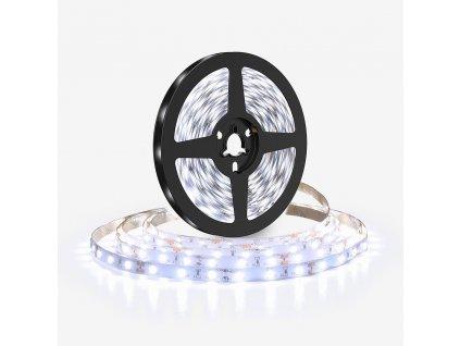 Solight LED světelný pás 5m, 120LED/m, 10W/m, 1100lm/m, IP20, studená bílá