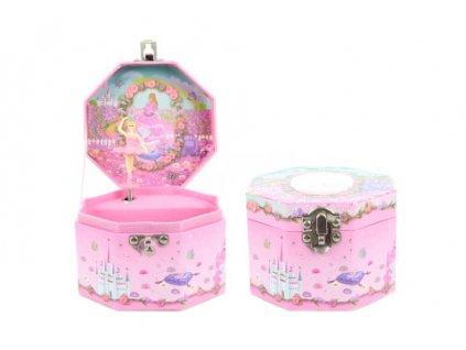 Hrací skříňka šperkovnice princezna