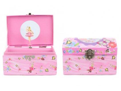 Hrací skříňka šperkovnice motýlci