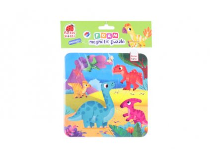 Pěnové magnetické puzzle - dinosauři