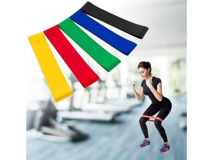 Gumy na cvičení - 5 ks