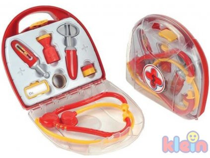 KLEIN Doktorský kufřík průhledný se se stetoskopem a doplňky PLAST