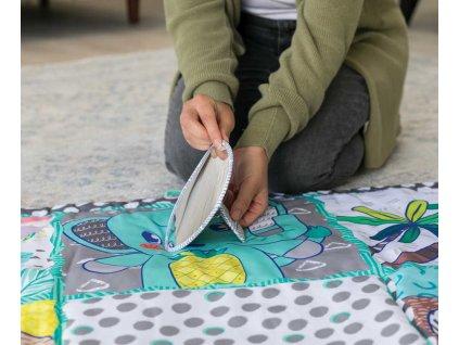 INFANTINO Baby deka hrací MAXI senzorická 122x122cm pro miminko  + Dárek zdarma