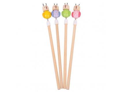 Bigjigs Toys tužka sovička 1ks růžová Bigjigs Toys tužka sovička 1ks růžová