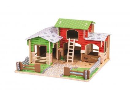 Bigjigs Toys Farma Cobblestone  + Dárek zdarma