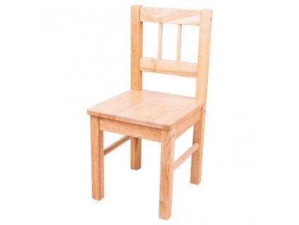 Bigjigs Toys Dřevěná židle přírodní  + Dárek zdarma