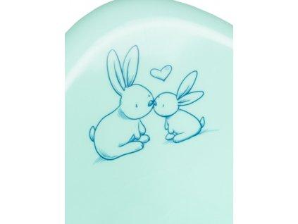 Dětské sedátko na WC Bunny mátové - zelená