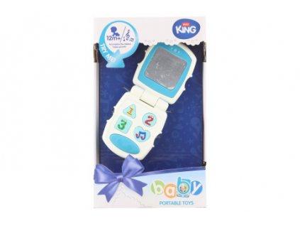 Baby telefon modrý na baterie