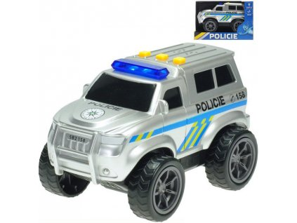 Auto policie velká kola 18cm na baterie na setrvačník Světlo Zvuk