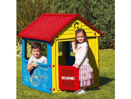 Dětský zahradní domeček, plastový, modrý  + Dárek zdarma