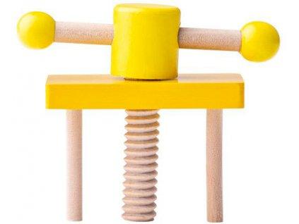 WOODY DŘEVO Dětský ponk set cirkulárka s nářadím a doplňky malý kutil