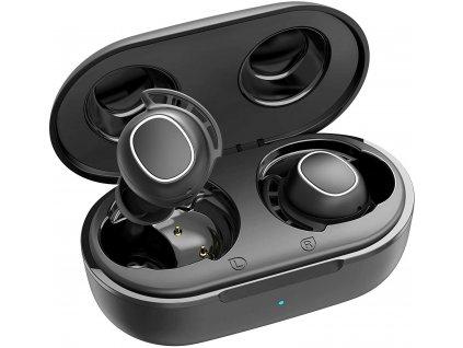 MPOW M30 – bezdrátová sluchátka s dobíjecím boxem, černá  + Dárek zdarma